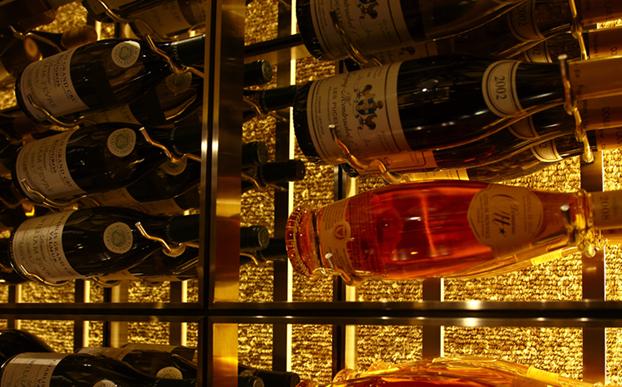 Nickel wine racks